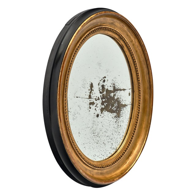 Louis XVI Period French Oval Mirror For Sale - Image 4 of 10