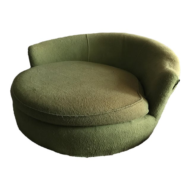 Vintage Green Oversized Chair - Image 1 of 6