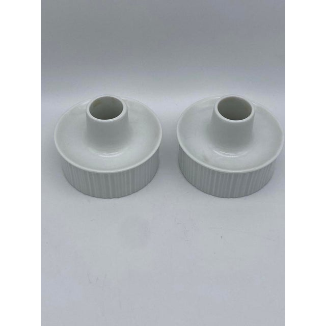 Mid-Century Modern Tapio Wirkkala for Rosenthal Porcelain Candle Holders For Sale - Image 3 of 7