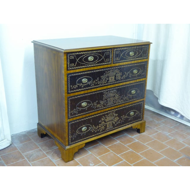 Chinoiserie 20th Century Maitland Smith Leather Clad Chest Drawers For Sale - Image 3 of 9
