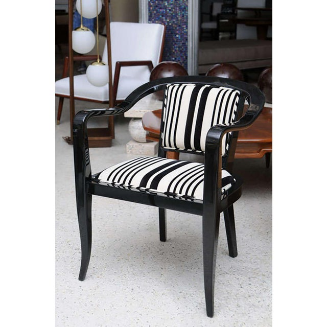 Mid-Century Modern Set of Ten Ebonized Armchairs in the Style of Ed Wormley for Dunbar For Sale - Image 3 of 9