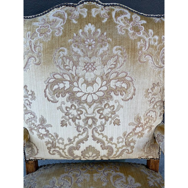Single 18th C. French Regence Walnut Carved Arm Chair For Sale - Image 4 of 12
