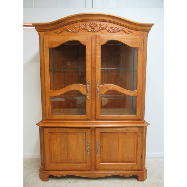 Ethan Allen Legacy French County Server China Cabinet For Sale - Image 13 of 13