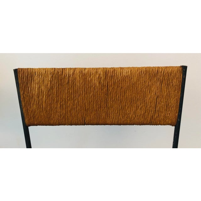 Metal Mid-Century Modern Arthur Umanoff Slat Bar Stools for Raymor- a Pair For Sale - Image 7 of 9