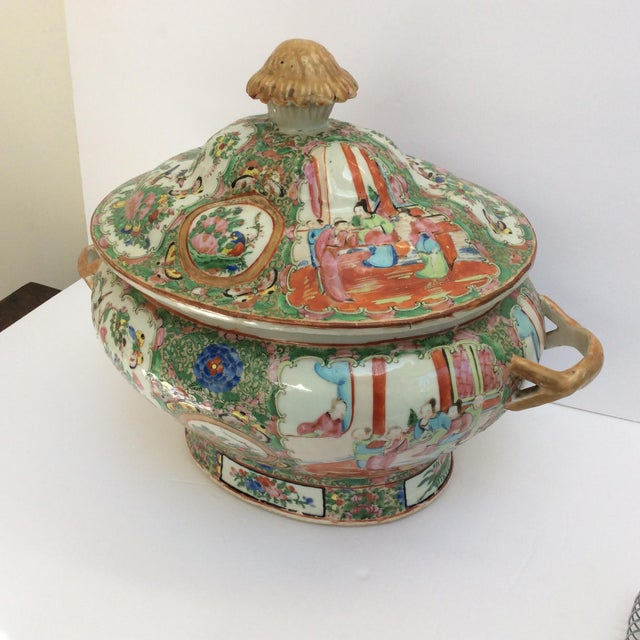 Mid 19th Century Massive Chinese Export Soup Tureen For Sale - Image 5 of 11