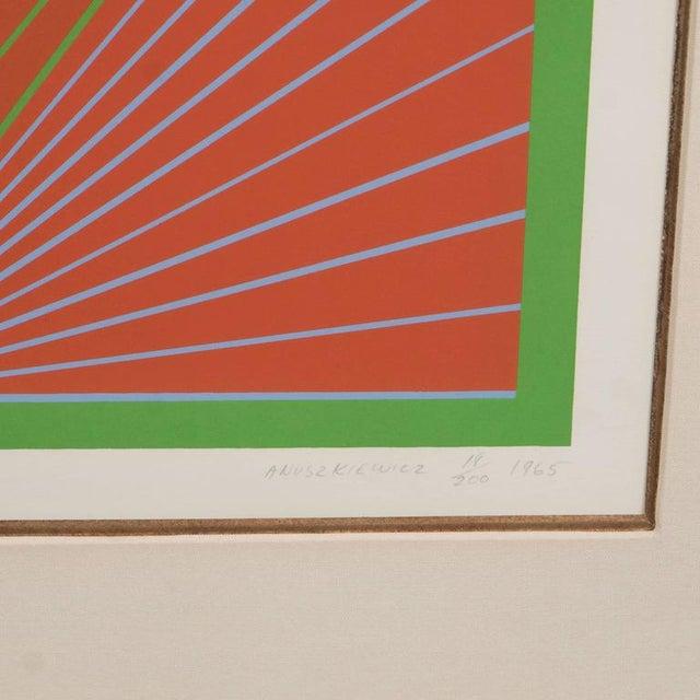 "Richard Anuszkiewicz ""Diamond Chroma"" Screenprint in Colors, 1965 For Sale In New York - Image 6 of 10"