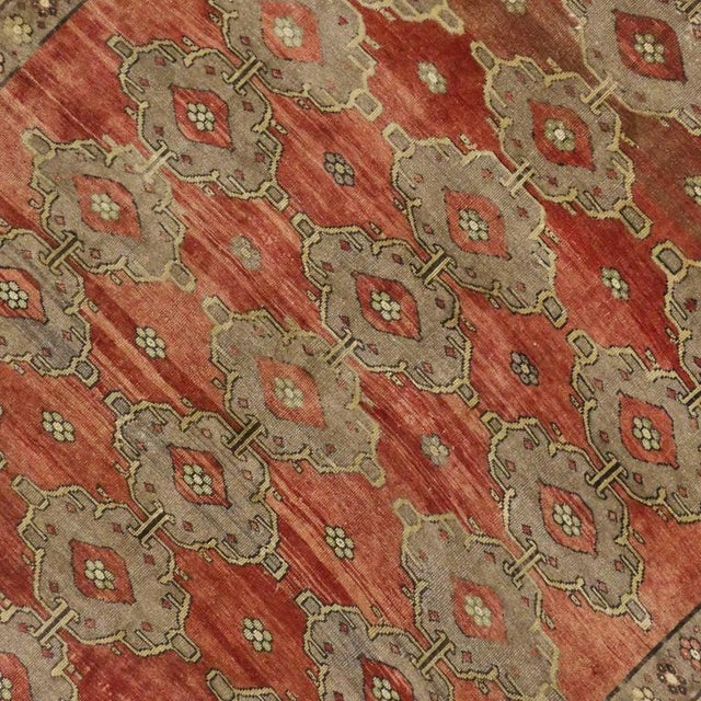 Textile Modern Traditional Vintage Turkish Oushak Rug With Jacobean Style, 07'06 X 11'04 For Sale - Image 7 of 10