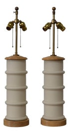Image of Newly Made Oak Table Lamps