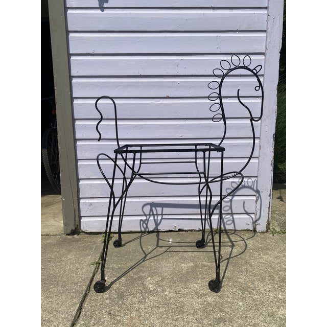 Metal Mid-Century Modern Horse-Form Bar Cart by Meadowcraft For Sale - Image 7 of 8