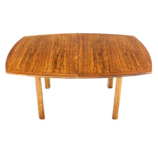 Baker Mid-Century Modern Dining Table with Two Leaves For Sale