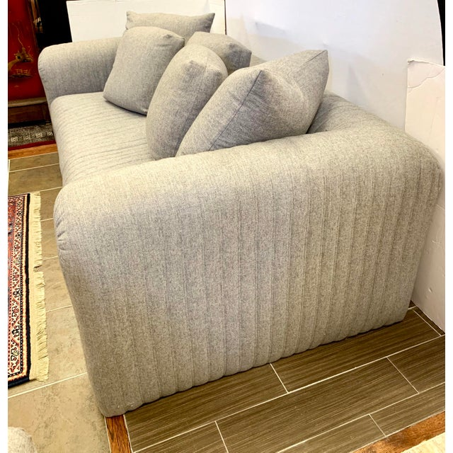 2010s Donghia by John Hutton Gray Sofa For Sale - Image 5 of 13