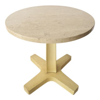 Vintage Italian Travertine Table