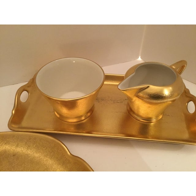 Traditional Gold Pickard Tea Service For Sale - Image 3 of 9