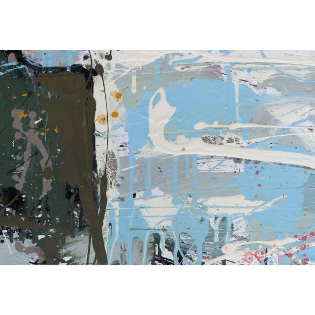 """William P. Montgomery Abstract Triptych Painting on Wood """"Rollercoaster"""", 2016 For Sale - Image 9 of 13"""