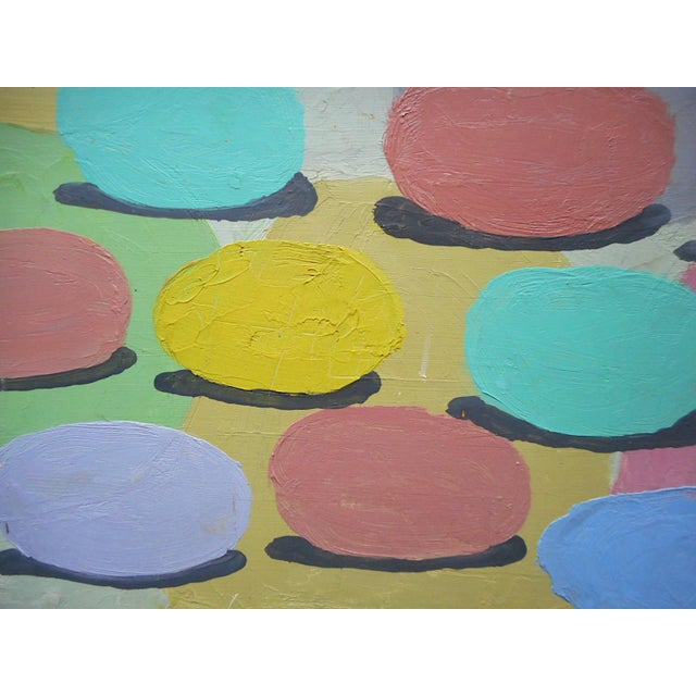 """Original Signed Vintage Abstract Oil/Board """"Rolling Out Spring"""" For Sale - Image 4 of 7"""