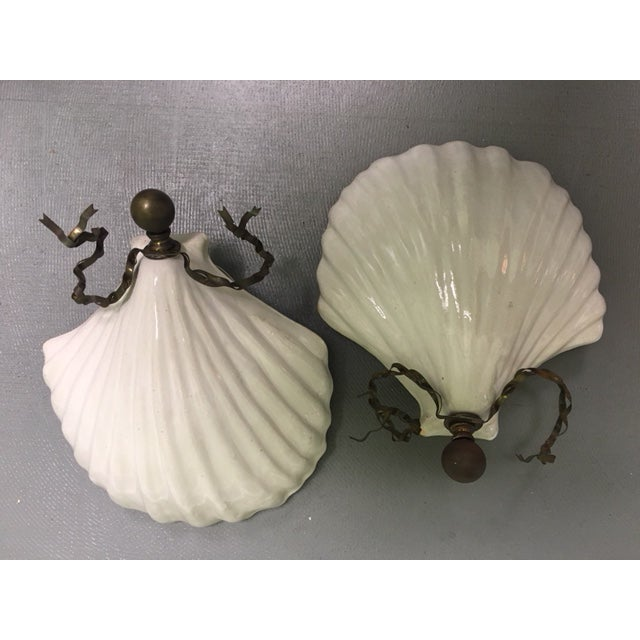 White Hart & Associates Ceramic Wall Sconces - A Pair For Sale - Image 8 of 8