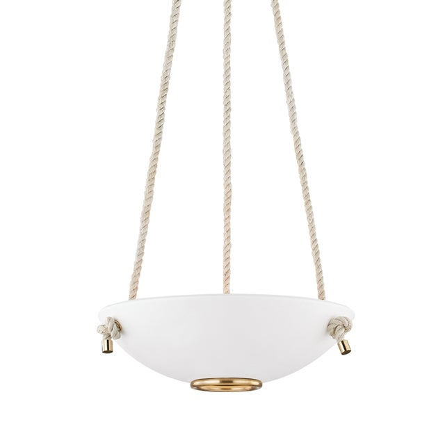 Hudson Valley Lighting Plaster No.2 3 Light Small Pendant - AGB/WP For Sale - Image 4 of 5