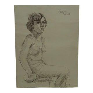 "Tom Sturges Jr. 1950 ""The Bra"" Original Drawing on Paper For Sale"