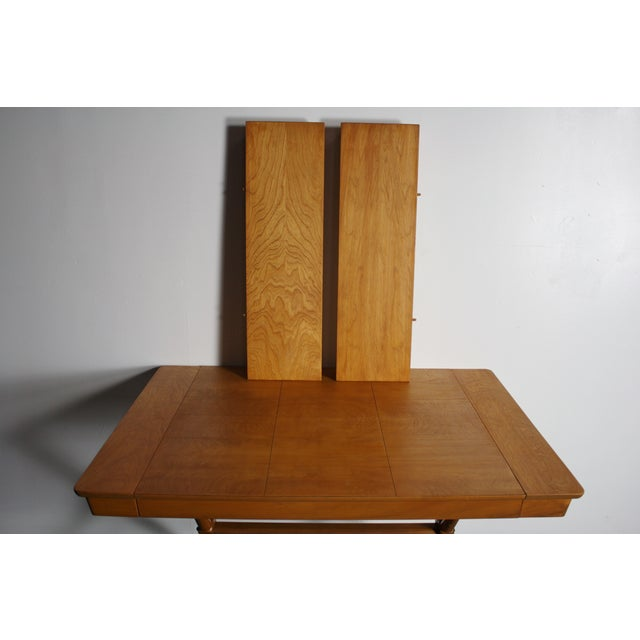 Brown Walnut Dining Table X Base, Manner of Widdicomb For Sale - Image 8 of 10