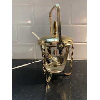Vintage Fred Press Gold Condiment Caddy with Spoon Preview