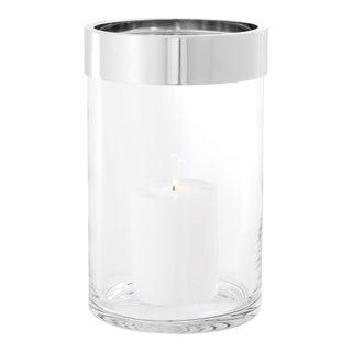 Nickel Clear Glass Hurricane   Eichholtz Vertex S For Sale