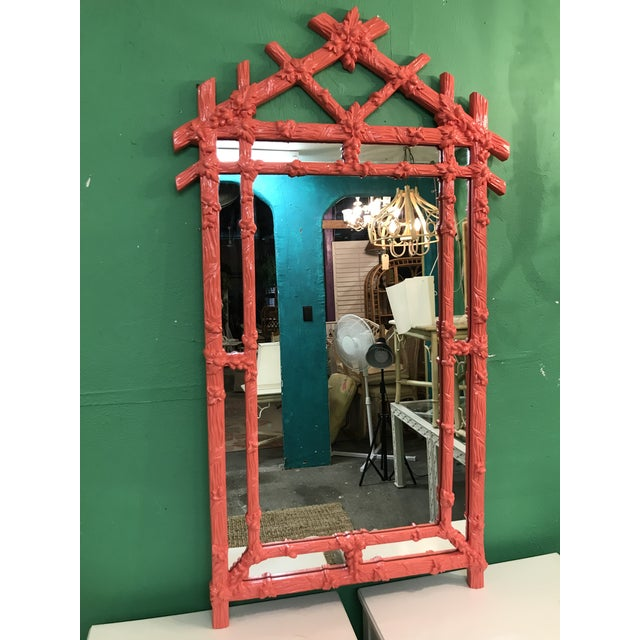 Vintage Faux Bois Coral Mirror For Sale - Image 11 of 11