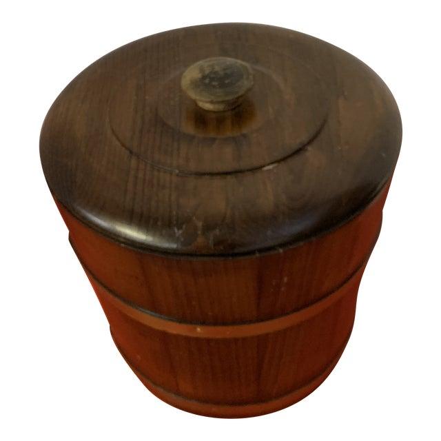 Late 19th Century Oak Ice Bucket For Sale