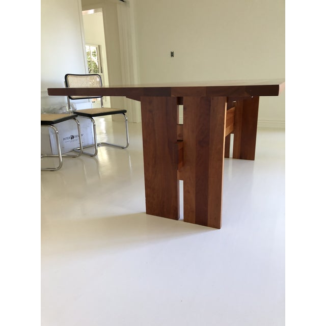 Custom order Room and Board Winslow Cherry Dining Table - 84 x 36 in. Modern Farmhouse table in great condition. Trestle...