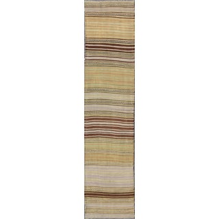 Vintage Turkish Kilim Flat-Weave Runner-2'4 X 10'1 For Sale