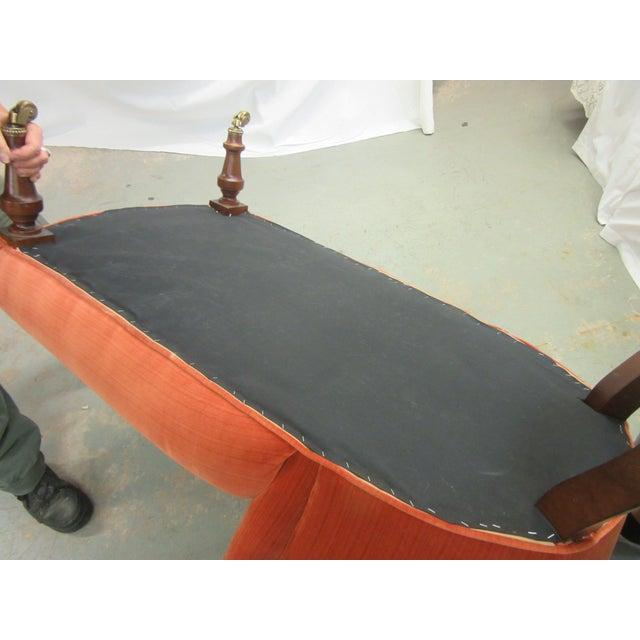 Orange 1970's Vintage Hancock and Moore Orange Velvet Chaise For Sale - Image 8 of 9