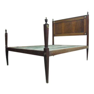 French 18th Century Louis XVI Neoclassical Bed in Full or Queen Size.
