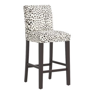 Bar stool in Washed Cheetah Cream Gray For Sale