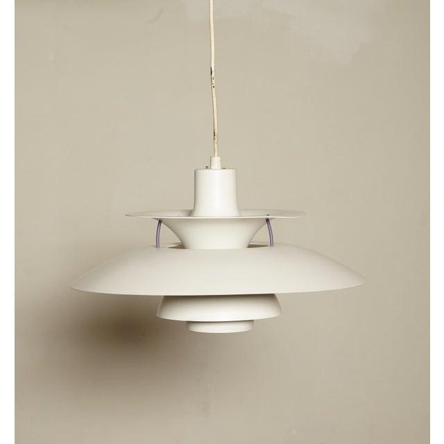 White Vintage Ph5 Pendant Lamp by Poul Henningsen for Louis Poulsen, Denmark For Sale - Image 8 of 8