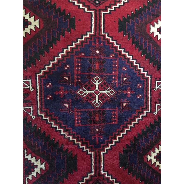 Handmade Persian Luri Rug - 7″ × 11″ - Image 10 of 11