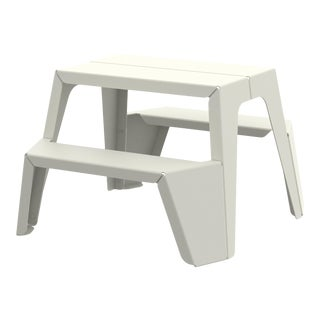 Small Rambler Picnic Table in Pearl For Sale