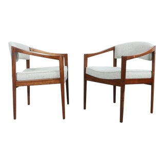 Mid Century Arm Chairs - a Pair