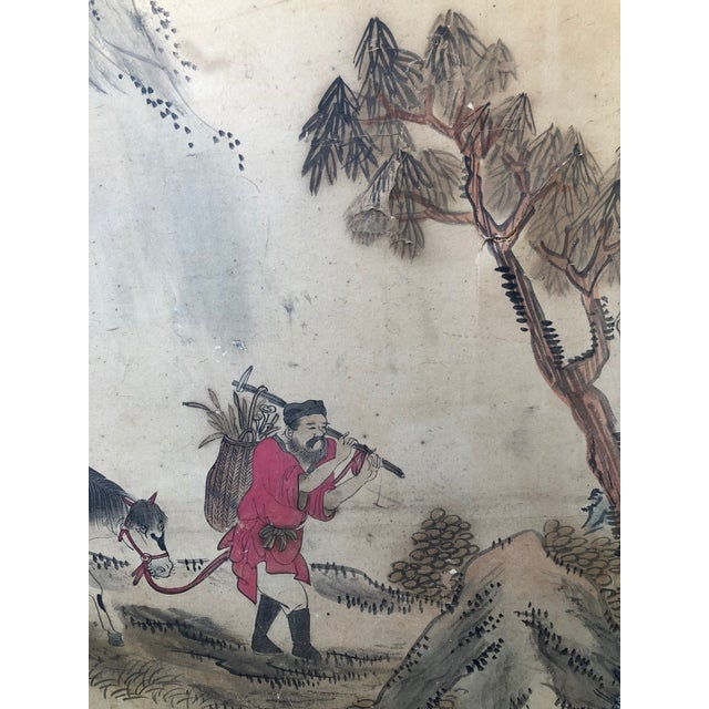 Antique Chinese Paper Screen - Image 2 of 7