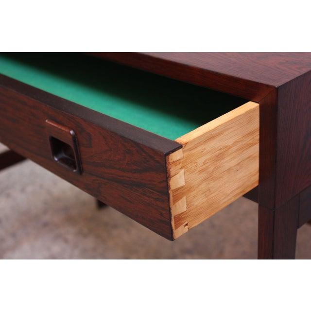 Diminutive Danish Modern Rosewood Desk by EJM Skive For Sale - Image 10 of 12