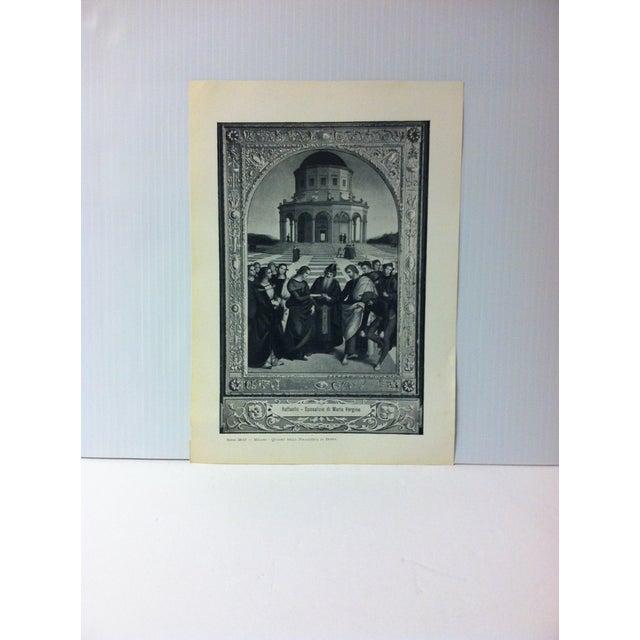 """Circa 1930 """"Quadro Nella Pinacoteca Di Brera"""" Print of Milano Italy For Sale - Image 4 of 4"""