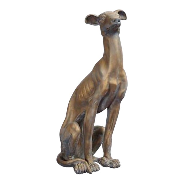 Life-Size Greyhound Dog Statue For Sale
