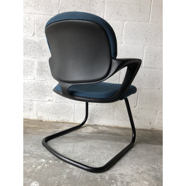 Metal Vintage 1990s Herman Miller Avian Sled Base Side Chairs (A Pair) For Sale - Image 7 of 13