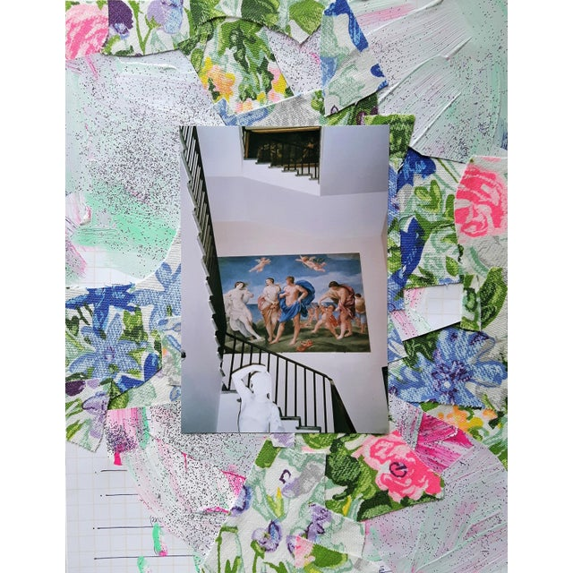 """""""True"""" Abstract Floral Architecture Collage by Frances Sousa For Sale"""