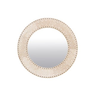 Bleached Foliage Bone Inlay Mirror For Sale