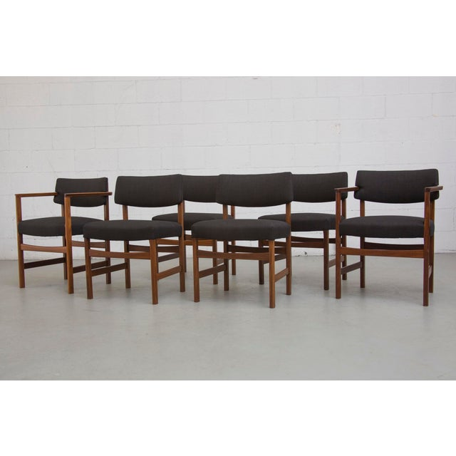 Masculine Danish Mid-Century Dining Chairs - 6 - Image 11 of 11