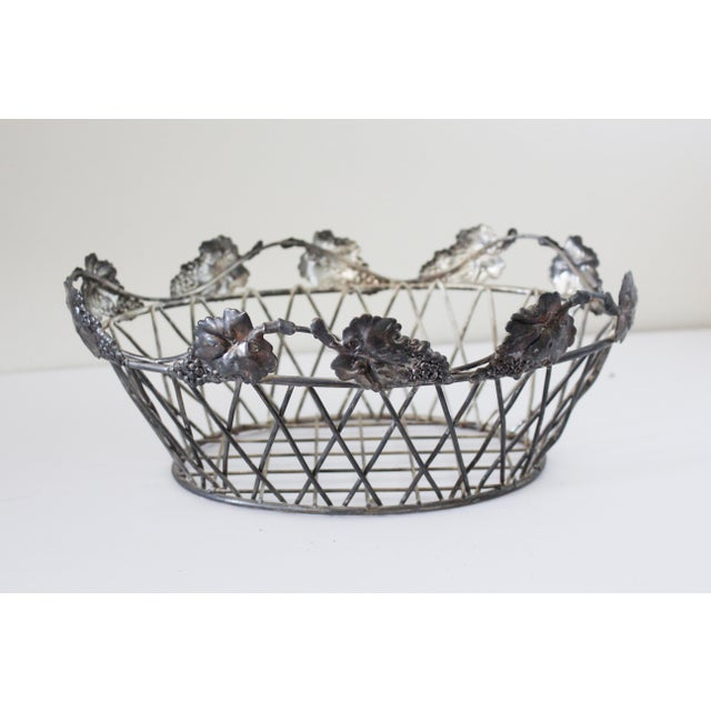 Vintage Wire Basket For Sale - Image 4 of 4
