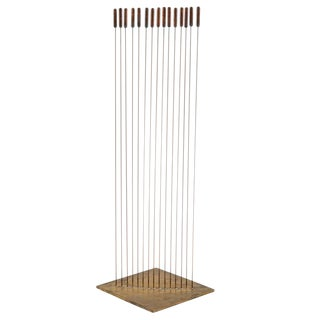 "Large Val Bertoia 15-Rod ""Curve of Sounding Cat Tails"" Sculpture, 2016 For Sale"