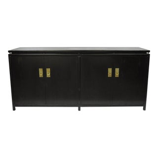 Baker Michael Taylor Oriental Black Sideboard Credenza Cabinet Buffet