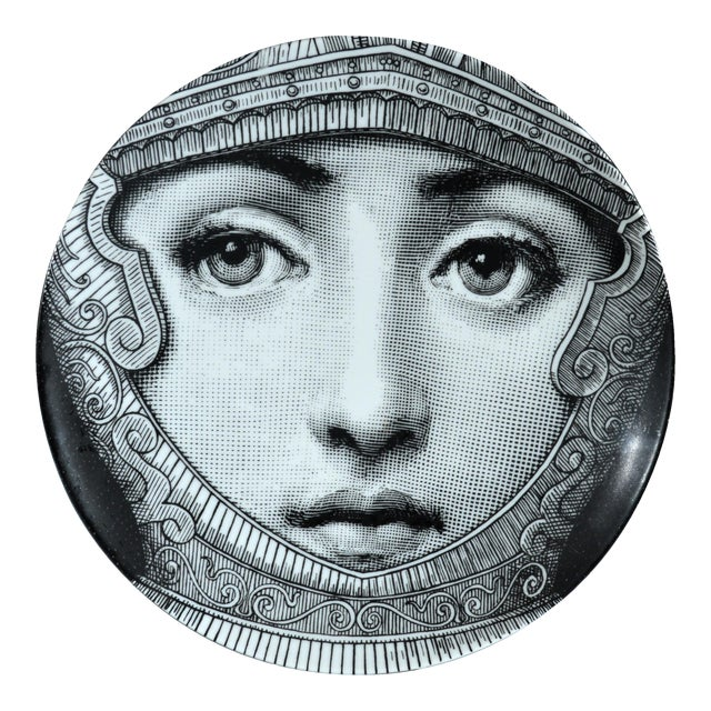 Fornasetti Tema E Variazioni Plate, Number 95 For Sale