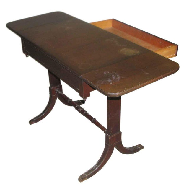 Brown Duncan Phyfe Occasional Drop-Leaf Table For Sale - Image 8 of 10