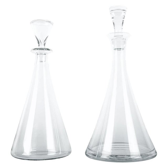 Vintage Baccarat Crystal Decanter Set - a Pair For Sale - Image 10 of 10